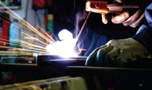 welders bending steel australia