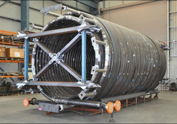 Helical Heating Coil for Offshore Platform Bending Rolling