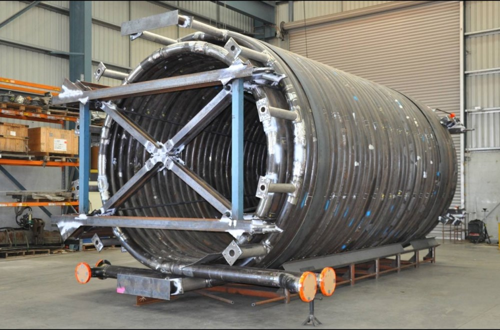 Helical Heating Coil For Offshore Application Uneek