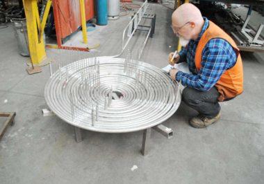 CSIRO radiant heater pancake coil steam generator