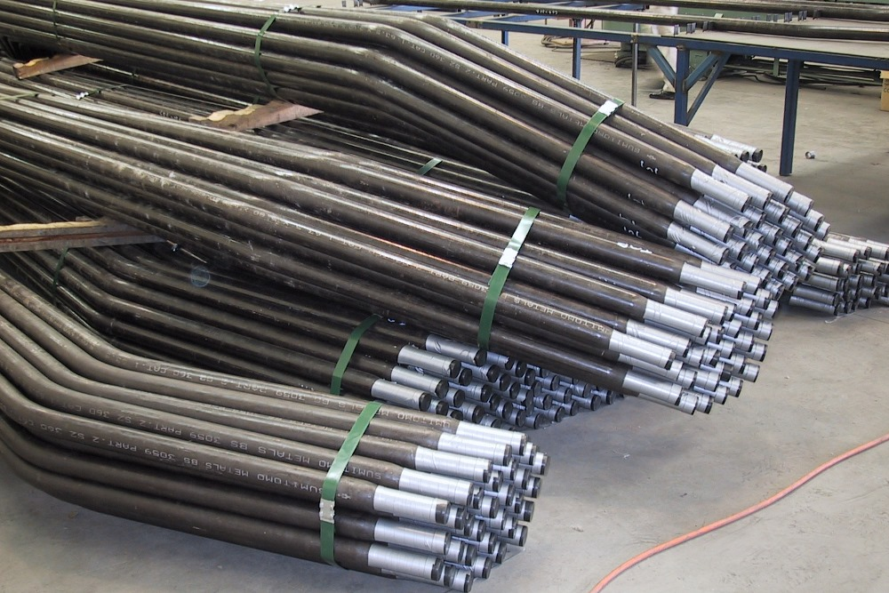 Convection-bank-tubes-with-swaged-ends-packed